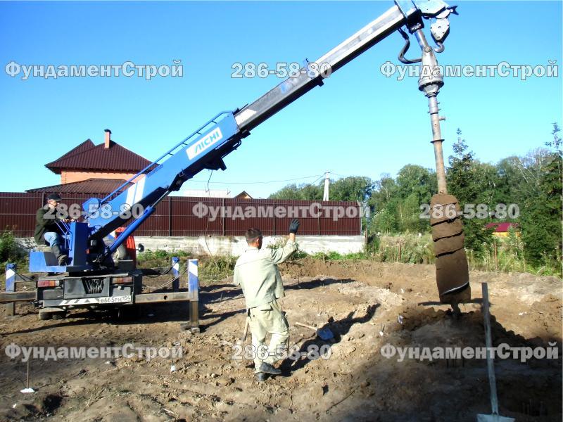 Стоимость свайного фундамента 6 на 6 в Балашихе