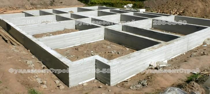 Стоимость ленточного фундамента 8 на 8 Щелковский район