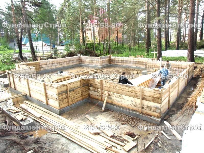 Мелкозаглубленный фундамент для дома из бруса своими руками